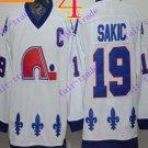 Cord NHL Quebec Nordique #19 Joe Sakic White Hockey Jersey Stitched