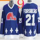 Cord NHL Quebec Nordique #21 Forsberg Blue Hockey Jersey Stitched