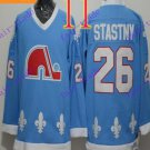 Cord NHL Quebec Nordique #26 Stastny Light Blue Hockey Jersey Stitched