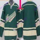 Stitched Minnesota Wild Blank Green Hockey Jersey Ice