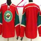 Stitched Minnesota Wild Blank Red Hockey Jersey Ice