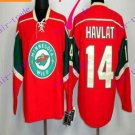 Stitched Minnesota Wild Blank 14 Havlat Red Hockey Jersey Ice