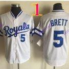kansas city royals #5 george brett 2016 MLB Baseball Jersey White Rugby Jerseys Authentic Stitched