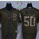50 Mookie Betts Jersey Flexbase Boston Red Sox  Baseball Jerseys Cool Base