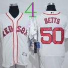 50 Mookie Betts Jersey Flexbase Boston Red Sox  Baseball Jerseys Cool Base White Style 2
