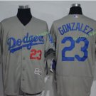 2017 Flexbase Stitched Los Angeles Dodgers23 Adrian Gonzalez Gray Baseball Jerseys Home Away S2