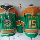 Buffalo Sabres #15 Jack Eichel Green Hockey Hooded Stitched Old Time Hoodies Sweatshirt Jerseys