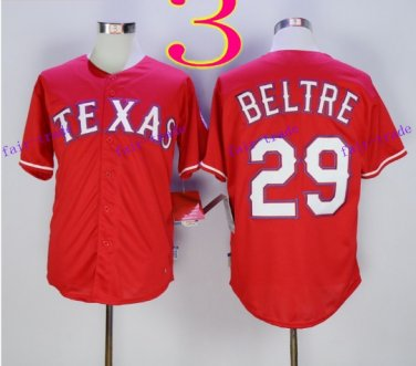 Texas Rangers #29 Adrian Beltre 2015 Baseball Jersey Red Rugby Jerseys Authentic Stitched