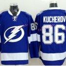 #86 Nikita Kucherov Jersey Tampa Bay Lightning Hockey Blue Hockey Jersey Ice Hockey Jersey