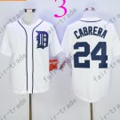 Detroit Tigers 24 Cabrera White 2015 Baseball Jersey Authentic Stitched