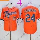 Detroit Tigers 24 Cabrera Orange 2015 Baseball Jersey Authentic Stitched