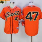 San Francisco Giants 47 Johnny Cueto Jersey Vintage Cool Baseball Jerseys Cooperstown Orange