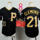 Pittsburgh Pirates Youth Jersey 21 Roberto Clemente Black  Kid Jersey