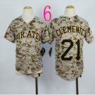 Pittsburgh Pirates Youth Jersey 21 Roberto Clemente Camo  Kid Jersey