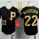 Pittsburgh Pirates Youth Jersey #22 Andrew McCutchen Black Kid Jersey