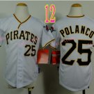 Pittsburgh Pirates Youth Jersey Gregory Polanco #25 White Kid Jersey