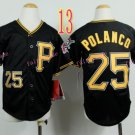 Pittsburgh Pirates Youth Jersey Gregory Polanco #25 Black Kid Jersey