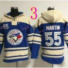 Toronto Blue Jays Hoodie #55 Russell Martin Blue Stitched Pullover Hoodie Sweatshirt