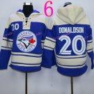 Toronto Blue Jays Hoodie #20 Josh Donaldson Blue Stitched Pullover Hoodie Sweatshirt