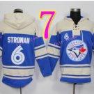 Toronto Blue Jays Hoodie #6 Marcus Stroman  Blue Stitched Pullover Hoodie Sweatshirt