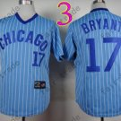 Chicago Cubs Jersey 17 Kris Bryant Blue Strips 1988 Baseball Jersey