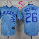 Chicago Cubs Jersey #26 Billy William  Blue Strips 1988 Baseball Jersey
