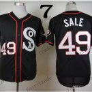 Chicago White Sox Chris Sale #49 2015 Baseball Jersey Rugby Jerseys Authentic Stitched