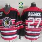 75 Anniversary Patch Chicago Blackhawks #27 Jeremy Roenick Throwback Retro Ice Hockey Jerseys