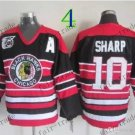 75 Anniversary Patch Chicago Blackhawks 10 Patrick Sharp Throwback Retro Ice Hockey Jerseys