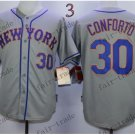 New York Mets 30 Michael Conforto Gray 2015 Baseball Jerseys Authentic