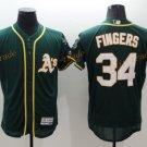 Oakland Athletics 34 Rollie Fingers Jersey Dark Green Baseball Jerseys Flexbase Throwback Stitched