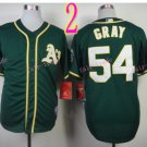 2014 Oakland Athletics Jersey 54 Sonny Gray Green Jerseys