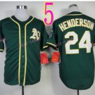 2014 Oakland Athletics Jersey  #24 Rickey Henderson Green Jerseys