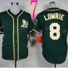 2014 Oakland Athletics Jersey 8 Jed Lowrie Green Jerseys