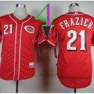 21 Deion Sanders Jersey Flexbase Cincinnati Reds Cooperstown Baseball Jerseys Red