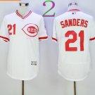 21 Deion Sanders Jersey Flexbase Cincinnati Reds Cooperstown Baseball Jerseys White s1
