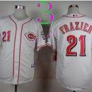 21 Deion Sanders Jersey Flexbase Cincinnati Reds Cooperstown Baseball Jerseys White s2