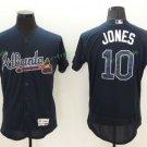 2017 Flexbase Stitched Atlanta Braves 10 Chipper Jones Blue Jerseys Home Away Road Jersey Style 2