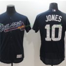 2017 Flexbase Stitched Atlanta Braves 10 Chipper Jones Blue Jerseys Home Away Road Jersey Style 1
