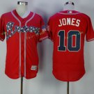 2017 Flexbase Stitched Atlanta Braves 10 Chipper Jones red Jerseys Home Away Road Jersey Style 1