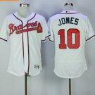 2017 Flexbase Stitched Atlanta Braves 10 Chipper Jones White Jerseys Home Away Road Jersey Style 1