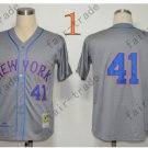 2015 New York Mets #41 Tom Seaver Jersey Gray Cool Base Stitched Authentic Baseball Jersey