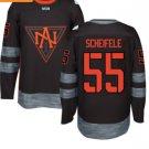 2016 World Cup North America Ice Hockey Black Jerseys # 55 Mark Scheifelee