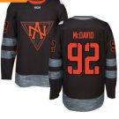 2016 World Cup North America Ice Hockey Black Jerseys 92 McDAVID