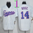 Montreal Expos Baseball Jerseys 2016 14 Pete Rose Jersey Throwback White
