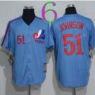 Montreal Expos Baseball Jerseys 2016 51 Randy Johnson Jersey Throwback Blue