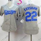 Los Angeles Dodgers Women Jersey 22 Clayton Kershaw Women Baseball Jersey Gray