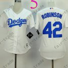 Los Angeles Dodgers Women Jersey 42 Jackie Robinson  Women Baseball Jersey White
