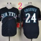 Seattle Mariners Jersey  #24 Ken Griffey Blue Jersey Best Jersey Sox
