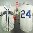 Seattle Mariners Jersey  #24 Ken Griffey cream Jersey Best Jersey Sox